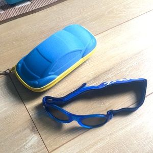 Baby Banz Blue Sunglasses with Car Case